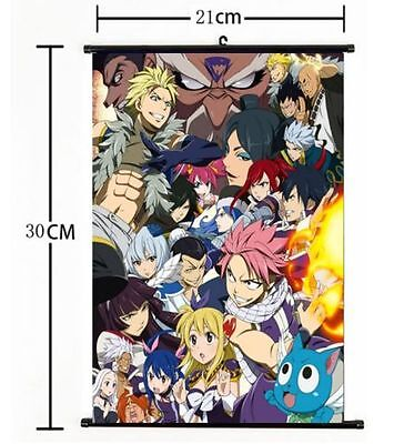 Hot Japan Anime FAIRY TAIL home decor Wall Scroll Poster cosplay s581