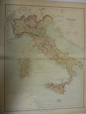 Map of Italy. (Nr. 19) from Philips' Comprehensive Atlas 1852. By Hughes Philip,
