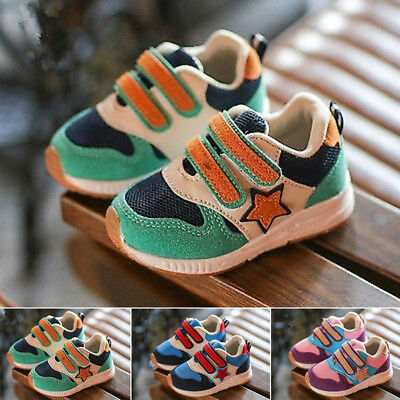 Toddler Kids Sport Running Baby Crib Shoes Boys Girls Star Mesh Shoes Sneakers