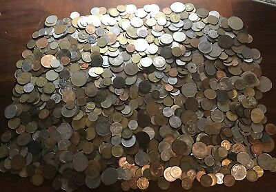 HUGE **12.1 Lbs.** Of Foreign / World Coins Lots - Nice Mix! .99 Start