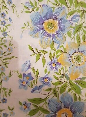 vintage caress floral double bed sheet set and 2 pillowcases new