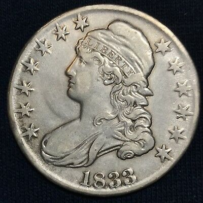 1833 Capped Bust Half Dollar, Early Silver Half