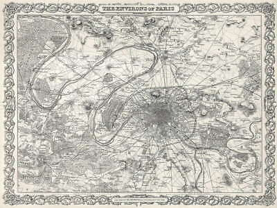 117230 GEOGRAPHY MAP ILLUSTRATED ANTIQUE COLTON PARIS Decor WALL PRINT POSTER AU