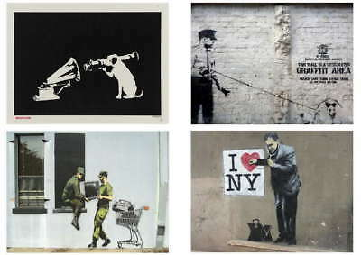 115985 Banksy Graffiti Pack 12 Collection Set 12 Decor WALL PRINT POSTER AU