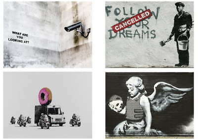 115970 Banksy Graffiti Pack 12 Collection Set 12 Decor WALL PRINT POSTER AU