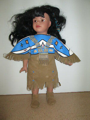 Doll Dressed in Traditional Native Costume Indian Girl
