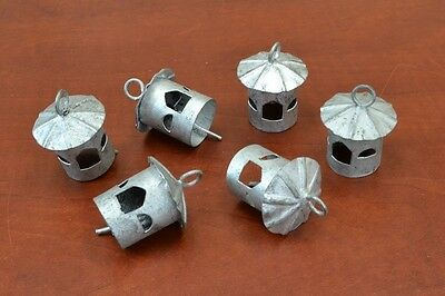 "6 Pcs Handmade Gray Farm Cow Goat Sheep Iron Bells 2"" #f-312"
