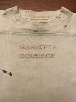 Vintage 40's 50's Marietta College Football Jersey/ Shirt - Small