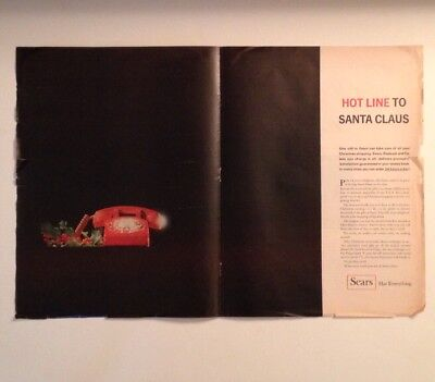 1965 Sears Christmas Print Ad Full Page Spread