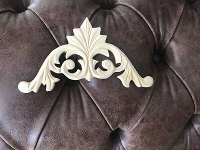 Decorative scroll corners wooden furniture moulding applique onlay