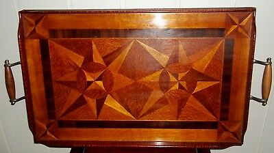 Large Art Deco Inlaid Serving Tray