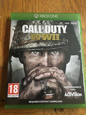 Call of Duty World War 2 (unsealed) - Xbox One UK Release New!