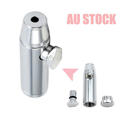 Elegant Metal Snuff Bullet Rocket Box Dispenser Snorter Snuffer Tube Vial