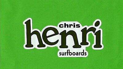 VINTAGE / RETRO HENRI SURFBOARDS Sticker Decal Surfboard 1960s LONGBOARD SURFER