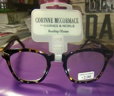 "Corinne McCormack ""Annie"" style Readers, +2.00 strength lens. Tortoise shell"