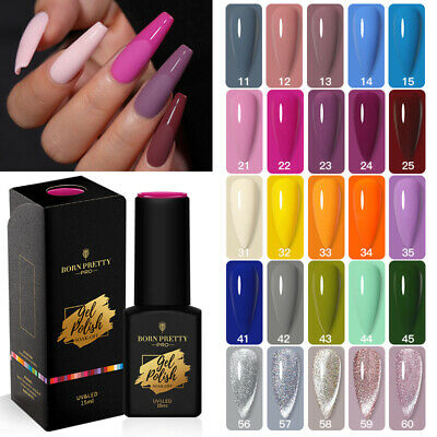 BORN PRETTY UV Gel Nail Art Polish Soak Off Base Top Coat Sequins Glitter