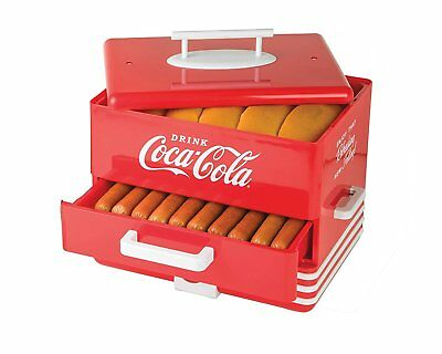 Hot Dog Warmer Steamer Cooker Food Machine Vintage Retro Electric Bun Coca-Cola