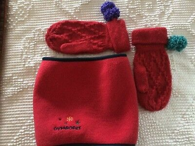 NWT GYMBOREE FLeeCe GATER + NWOT ReD MiTTeNS BOY or Unisex One Size