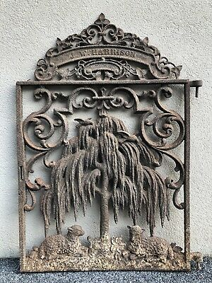Antique 19th Century Wrought Iron Grate Architectural