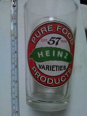 Vintage Collectible HEINZ 57 Pickle Logo GLASS