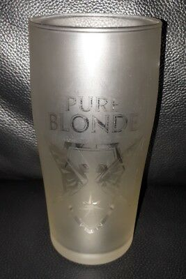 Rare Collectable 330Ml Frosted Pure Blonde Beer Glass In Great Used Condition