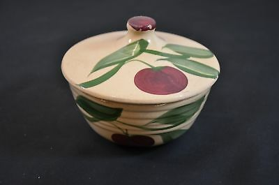 Watt Covered Bowl With Lid Kewaunee, Wi Advertising Pottery Cherry Apple#900