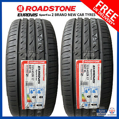 2X New 225 45 17 ROADSTONE SP04 94W 225/45R17 2254517 ''A'' WET GRIP MID RANGE
