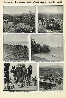 Noted Places Of Palestine Where Easter Had Its Origins ,1910  PRINT