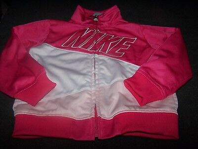 Nike lightweight pink white jacket girl 18 months toddler fall cute athletic