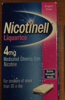 NICOTINELL Liquorice 2mg / 4mg Chewing Gum X 480 Pieces ( Choose Strength )