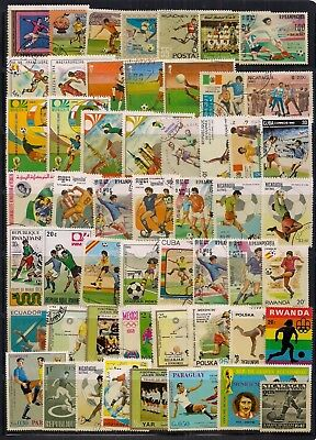Thematics-New Selection Of Football On Stamps.fine Used.all Different.very Good