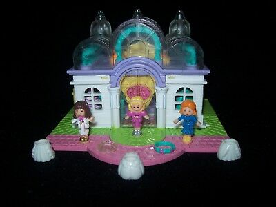 EUC 100% Complete (Lights Up) Vintage Polly Pocket Light Up Bridal Salon 1993