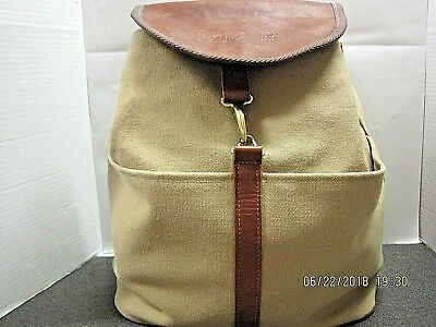 BURGER Boat Yacht Backpack Rucksack Leather Canvas Collectible NWOT!