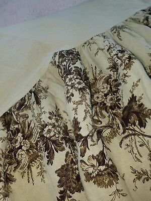 Bella Notte Linen Crib Skirt Dust Ruffle Green Floral Nursery Decor Baby A15