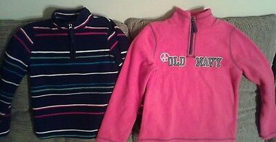 Lot Of 2 Old Navy Pink And Multi Color  Girl Sweater Toddler Size S Small 6 -7