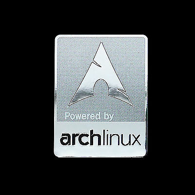 Powered by Arch Linux Metal Decal Sticker Case Computer PC Laptop Badge