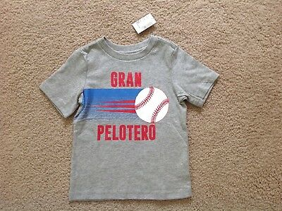 New the Children's Place Baby Toddler Boys Short Sleeve Baseball Graphic tee, 2T
