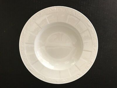 Villeroy Boch Cameo Weiss Bowl Soup Pasta Bone China Germany Made Rimmed Large