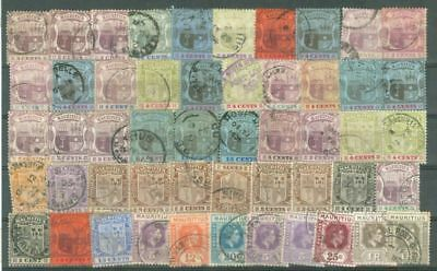 Mauritius Old Group of 50 used stamp Lot#5317    gtc