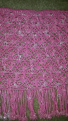 Belly Dance Pink Beaded Shawl Used