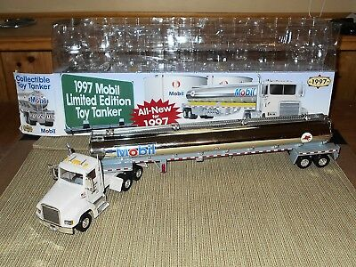 Mobil 1997 Limited Edition Tanker Truck Diecast Cab, Tail Lights, Engine Sounds