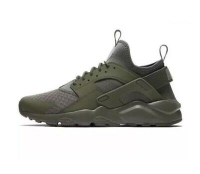 fb5cddeb4290 Mens Nike Air Huarache Run Ultra 819685-204 Medium Olive Brand New Size 13