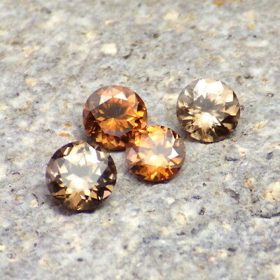 Zircon-Nigeria 1.70 Ct Tw Set 4 Pcs-Natural Untreated-Small Ring Sizes