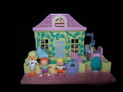 EUC 100% Complete Vintage Polly Pocket Nursery School 1994