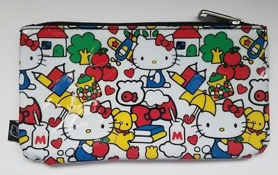Loungefly Hello Kitty Sanrio Pencil Case Pouch Apples Books School Theme