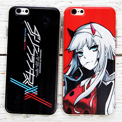 Anime DARLING in the FRANXX Mirror CODE:002 Glass Phone Case For iPhone 6 7 8/X