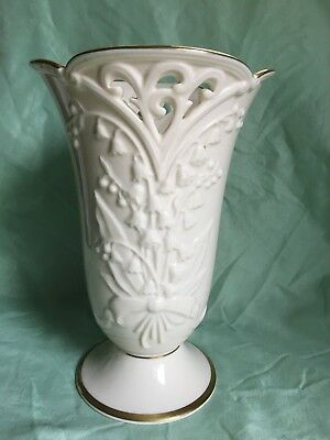 Lenox 2004 SWEET LILY OF THE VALLEY Large Ivory Bone China Flower Vase EXC COND
