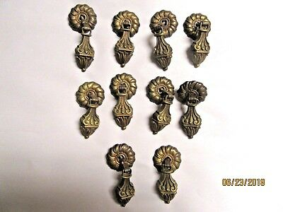 Antique Vintage Ornate Cast Bronze Pull Knobs For Cabinets And Drawers (Qty 10)