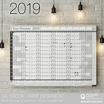2019 Year Planner Wall Chart ✔with 2020 Calendar ✔inc. Holidays✔Home,Office,Work