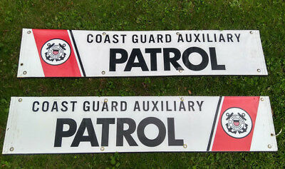 "Us Coast Guard Auxiliary Patrol Vinyl Banner - 10"" X 48""  With Backing"